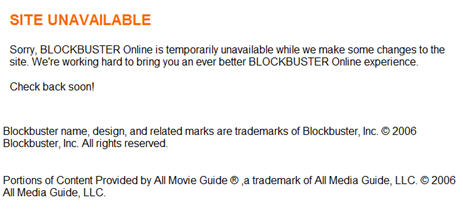 Sorry, Blockbuster Is Not Available