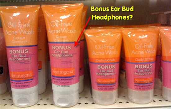 Neutrogena Face Wash Comes With Free Headphones. What?