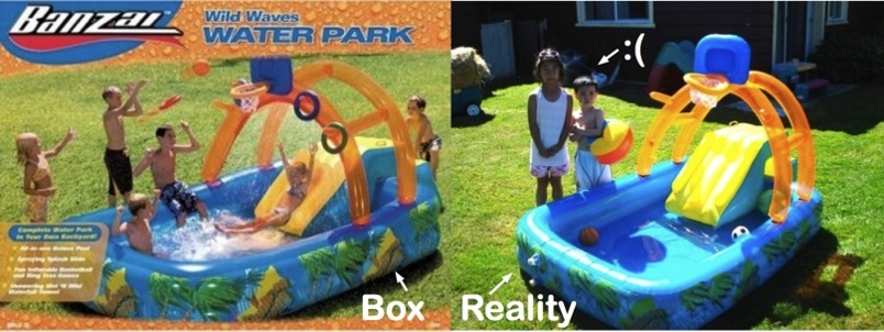 Banzai Wild Waves Water Park Box Picture Vs Reality