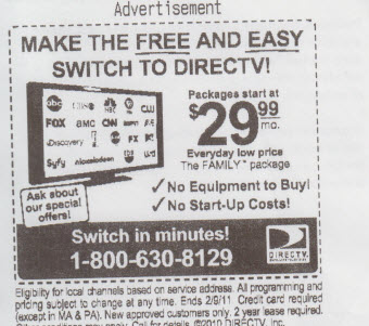 Buy Something At Borders, Get Free DirecTV Ad