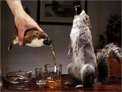 Combine Your Loves For Alcohol & Taxidermy With Beer Packed In Rodent Carcass