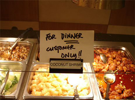 Healthy Appetites Banned From The Buffet