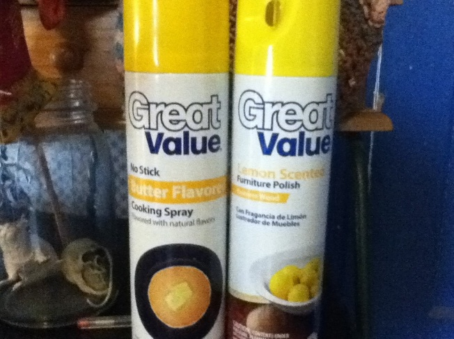 Potential Pancake Disasters: Walmart's Cooking Spray Looks A Lot Like Their Furniture Polish