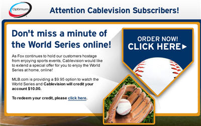 Cablevision Gives Customers Free World Series Streams