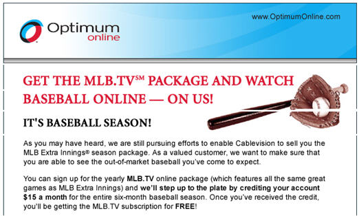 "Desperate To Keep ""Extra Innings"" Customers, Cablevision Offers To ""Pay"" For MLB.TV"