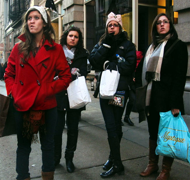 Caption This Picture Of Four Shoppers