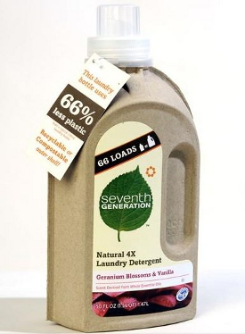 Here Comes Liquid Laundry Detergent In A Cardboard Bottle
