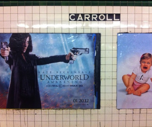 Can't These Two Subway Posters Settle It Without Violence?