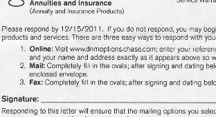 Chase Sends Letter To Non-Customers To Tell Them They Have To Opt Out Of Receiving More Unwanted Mail