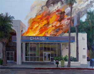 Painting Of Chase Branch On Fire eBays For $25,200