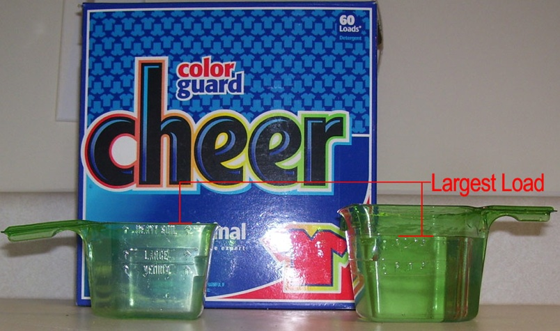 Cheer Color Guard's Newer Scoop Wastes More Detergent, Money