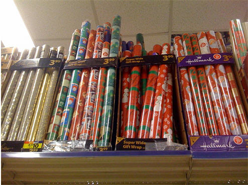 christmas wrapping paper spotted at walgreens consumerist