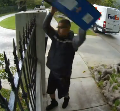 Perhaps This FedEx Delivery Man Is Preparing For A Monitor-Throwing Contest