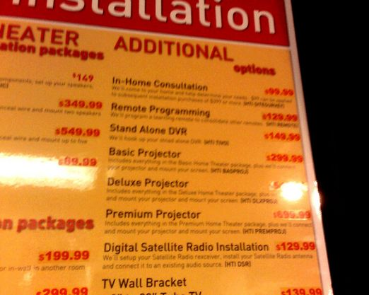 Circuit City Price Gouging on Installation Fees