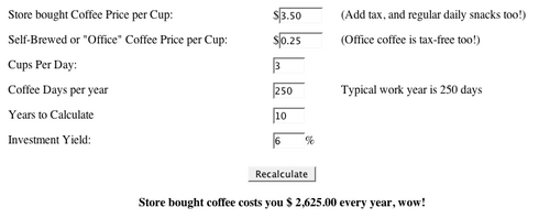 Electric Coffee Abacus Calculates The Price of An Orgy