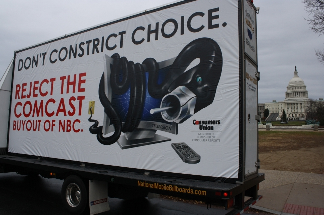 The 'Cable Constrictor' Hits The Streets To Warn People About Comcast/NBC Deal