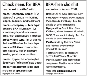 Get Info On BPA-Free Baby Products Via Text Messaging