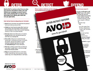 "USPS & FTC Mail Out ""Avoid ID Theft"" Brochure"