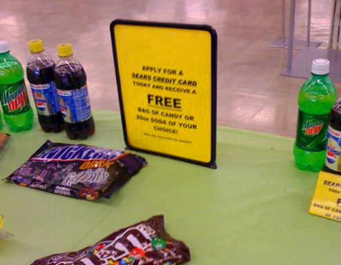 Kmart Will Trade You A Bottle Of Coke Or Free Candy For A Sears Credit Card App