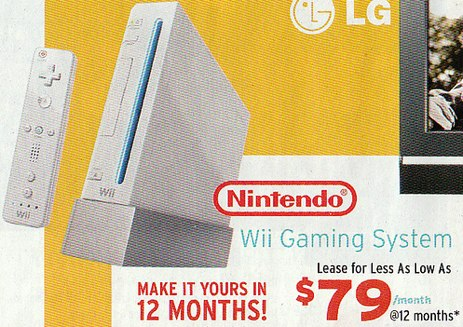 Kelly's Will Rent-To-Own You This Wii For $948