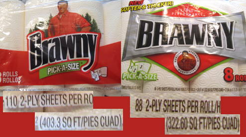 Brawny Paper Towels Shrink By 20% While Price Goes up 6%