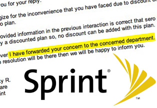 "Sprint Invents New ""Concerned Department"""