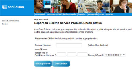 ConEd Asks You To Report Your Power Outages Online