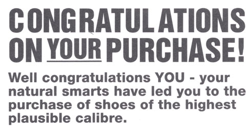 Diesel Shoes Comment Card Is Whimsical Beyond Comprehension