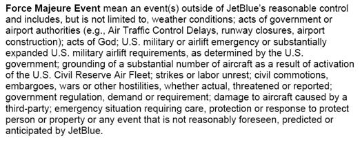 "JetBlue Defines ""Controllable Irregularity"" In New ""Bill of Rights"""