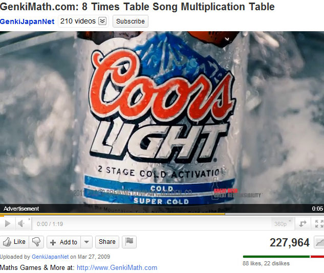 Why Is Coors Light Advertising During This Children's Song?