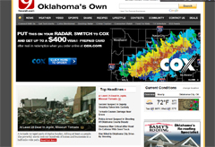 Local News Site Might Want To Reconsider Ad Positioning With Severe Weather Imagery
