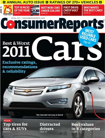 Consumer Reports Announces Its Top Car Picks For 2011