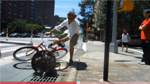 Guy Crashes Multiple Times To Make Point About NYPD Ticketing Bicyclists