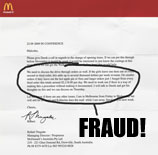(Parody) New Profit Center For Australian McDonald's: Fraud?