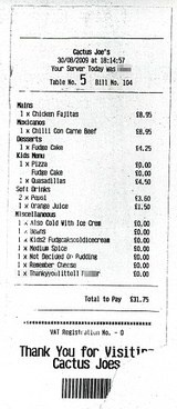 "Restaurant Calls Rowdy Toddler ""Little F***er"" On Family's Receipt"