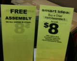 Office Depot Can't Decide If Assembly Is Free, Or $8
