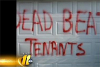 "Won't Pay Up Rent? I'll Spraypaint ""Deadbeat"" On Your Garage"
