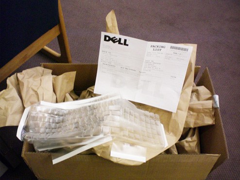 "Dell's ""Keyboard Condoms"" Are No Problem For Stupid Shipping Gang"