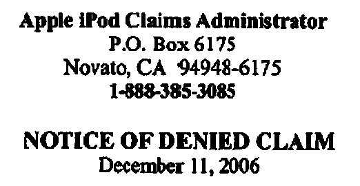 Help! Apple Denied My Class-Actioned iPod Battery Claim!