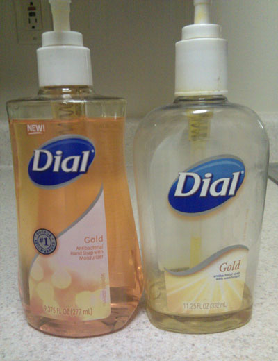 Dial Hand Soap Bottle Grows Slightly Taller To Disguise Shrink Ray Attack
