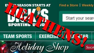 "American Family Association Calls For Boycott On Dick's Sporting Goods For Not Using The Word ""Christmas"""