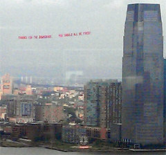 "Update: Airplane Flies Banner By Wall Street That Says ""Thanks For The Downgrade. You Should All Be Fired."""
