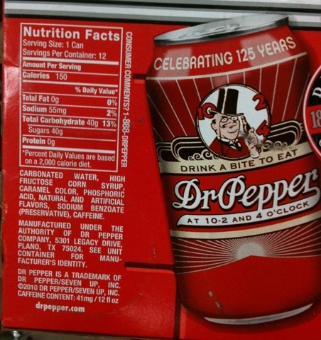 Just Because That Dr. Pepper Has Retro Packaging Doesn't Mean It's Got Real Sugar In It