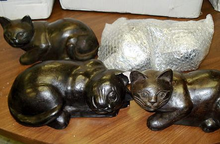 Feds Find $9 Million In Opium Inside Adorable Acrylic Kitty Cats At JFK