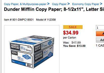 Yes, You Can Now Buy Actual Dunder Mifflin Paper