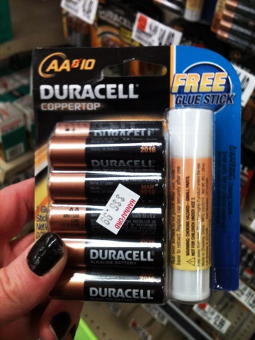 Duracell Battery Pack Comes With Free Glue Stick. But Why?