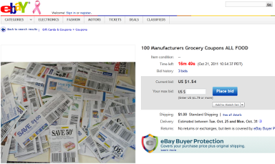 Manufacturers Trying To Stop Sale Of Coupons On eBay