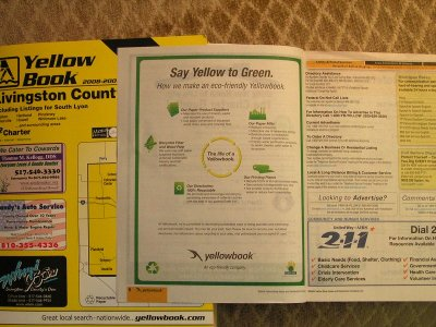 Yellow Book Saves The Earth By Distributing Thousands Of Phone Books With Smaller Print