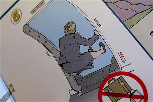 Angry, Intoxicated 1st Class Passenger Uses Emergency Slide So He Doesn't Have To Wait For Coach