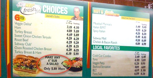 This Subway Sub To Salad Conversion Is Pretty Expensive Consumerist